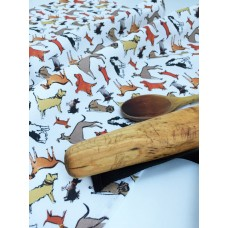 Dog Design Tea Towel