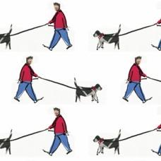 Dog Walker (Large Pattern)