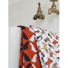 Ruby and Lola Tea Towel (Rust Red)